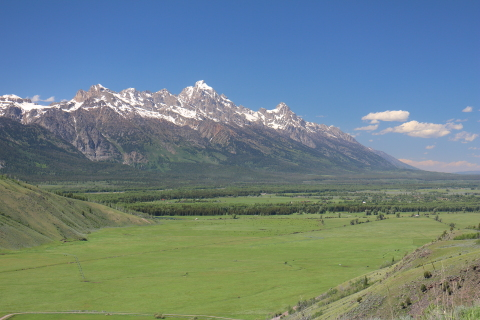 The Grand Teton from Spring Creek Ranch