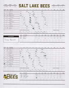 Bees Game Scorecard